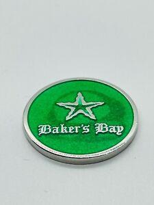 Bakers Bay Golf Ocean Club Bahamas Green Members Metal Ball Marker Coin Rare