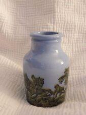 ANTIQUE PRATTWARE BLUE WILD BOAR WITH HUNTSMEN POTTED MEAT JAR porcelain hunt