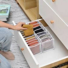 New listing Multi grids organizer Storage Box Underwear Sock Bra Lattice Foldable Mesh Drawe