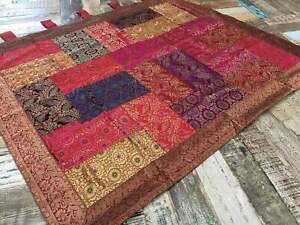 Beautiful Brocade Multi Colour Indian Patchwork Wall Hanging 100 cm x 120 cm