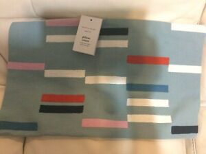 West Elm Margo Selby Staggered Stripe Lumbar Pillow Cover NWT! 12x21 Light Pool