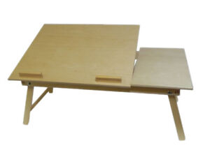 Bed Laptop Stand - Fordable desk notebook table bed tray wooden with legs 60 cm