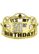 Add Any Age Gold Birthday Tiara