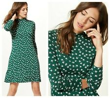 ex M&S Floral Print Swing Jersey Casual Versatile Dress