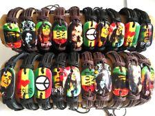 20pcs Mix Bob Marley Leather Bracelets Men Fashion Wristbands Wholesale bangle