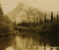 Byron Harmon #57 Mt. Rundle Banff Western Canada RPPC VTG Real Photo Postcard