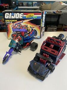 GI Joe Cobra 1987 Dreadnok Cycle Complete W/box & Thunder Machine Lot!!