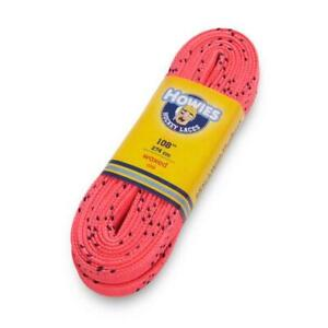 """Howies Pink 120"""" Ice Hockey Waxed Skate Laces Street Inline Roller"""
