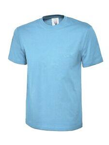 UC306 Childrens Kids T-shirt Sky Blue 5-6yr
