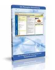 GS Rezepte-Verwaltung - Software zur Verwaltung Ihrer Rezepte