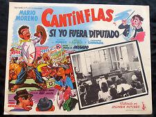 """SI YO FUERA DIPUTADO"" CANTINFLAS N MINT GREAT CARICATURE LOBBY CARD 1951"