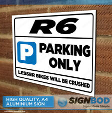 R6 Owner Parking Metal Sign Gift - Birthday Present