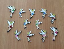 10 x Fairies Tinkerbell métal émail CHARMS pendentifs aléatoires