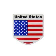 Sticker 3D Etats Unis en métal pour voiture