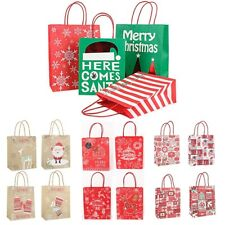 Merry Christmas Craft Paper Bag Gift Candy Bags Present Party Supply
