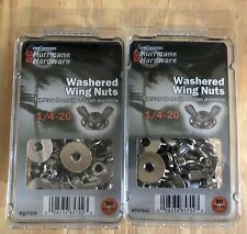 Hurricane Hardware Washered Wing Nuts 1/4-20 Qty 100