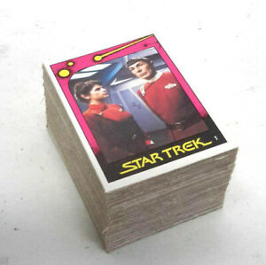 1982 Star Trek II: Wrath of Khan UK Monty Trading Card Set 100 cards- Excellent