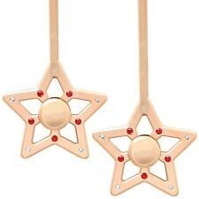 (cantidad 2) Nuevo matashi Chapado en Oro Rosa Con Cristales De Adornos De Navidad Estrella Spinner