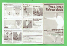 #D481.  PANTENE HAIR CARE  RUGBY LEAGUE REFEREES'   SIGNALS FOLDOUT