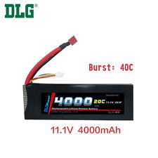 Genuine DLG RC Battery 11.1V 3S 20C 4000mAh Burst 40C Li-Po LiPo Dean's T plug