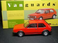 WOW EXTREMELY RARE 1/43 VANGUARDS VW GOLF GTI MARS RED NLA