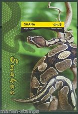 GHANA FIRST TIME OFFERED IMPERFORATED  SNAKES SOUVENIR SHEET I MINT NH