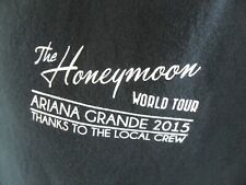 Ariana Grande Honeymoon Tour Concert Local Crew Large T Shirt Arianators 2015