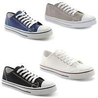 Mens Casual Canvas Trainers Plimsoles Plimsolls Shoes Lace Up Pumps Size UK 7-12