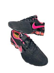 Girls Nike Shoxs Sz 7Y Running Shoes Pink Black 318145-002 Athletic Women's