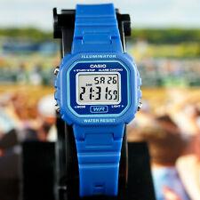 Casio LA20WH-2A Ladies Blue Digital Watch LED Light 5 Year Battery New
