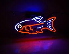 "14""x8""Tropical Fish Neon Sign Light Aquarium Wall Decor Visual Art Customized"