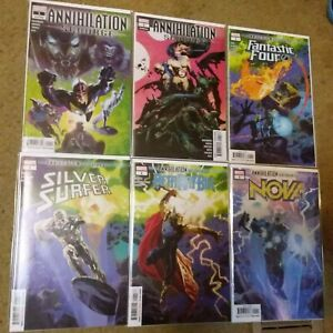Annihilation Scourge Alpha Nova Silver Surfer Beta Ray Bill Fantastic Four Omega