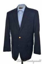 BROOKS BROTHERS Madison Country Club Blue Gold Button Wool Blazer Jacket - 42 R