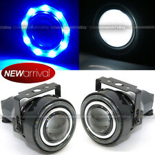 "For Eclipse 3"" Round Projector Fog Lamps w/ 9 Blue LED Halo Light Set"