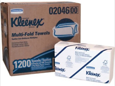 Kleenex 02046 White Multi-Fold Paper Towels, 7 Packs of 150 See Notes