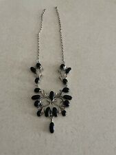 Sterling Silver Necklace ,Black ONYX heavy