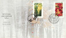 CANADA #2000-2001 48¢ NATIONAL EMBLEMS JOINT WITH THAILAND FIRST DAY COVER
