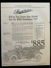 New ListingE Studebaker 1913 Ad 13 1/2 x 10 1/2 Haynes Ad on back