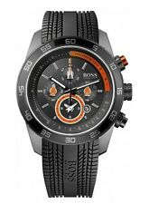 Hugo Boss Mens 1512662 Motorsports Chronograph Dial Rubber Strap Alarm Watch