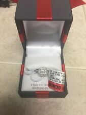 1/10CTTW Diamond Ring Sterling Silver Size 7 Perfect Gift!!!