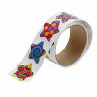 Roll of 100pcs Colorful Star Stickers D9H9