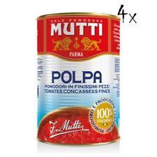 4x Mutti polpa di Pomodoro Tomatenpulpe Tomaten sauce 100% Italienisch 400g dose