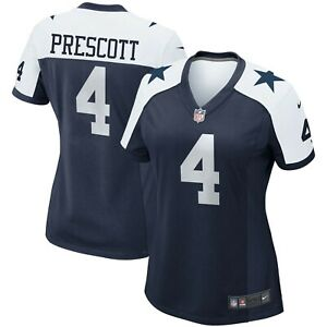 Dak Prescott Dallas Cowboys Nike Women's Alternate Game Team Jersey - Navy