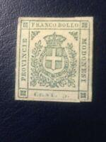 FRANCOBOLLO GOVERNO PROVVISORIO 5 CENT VERDE PROVINCE MODENESE 1859 NUOVO