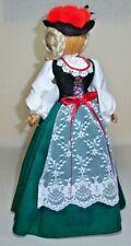 HANDMADE 13 INCH LOVELY LADY DOLL IN GERMAN FOLK DRESS SHELF SITTER