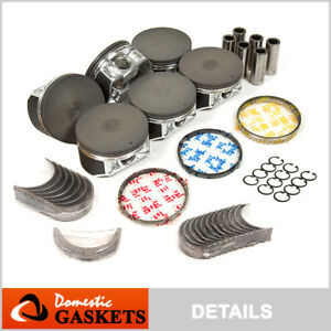 Fit 01-04 Nissan Pathfinder Infiniti QX4 3.5L Piston&Bearings&Rings Set VQ35DE