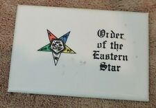 Vintage Order of the Eastern Star Hand Mirror