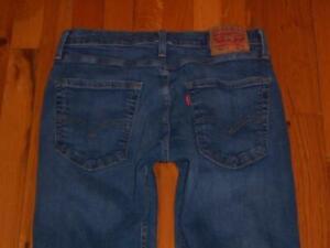 Mens Levi's 512 Slim Fit Stretch Jeans Size 31 X 30 31/30