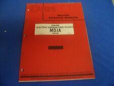 (Drawer 35) Onan MDJA Series Electric Generating Plants Major Service Manual