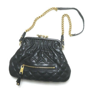 MARC JACOBS Italy LITTLE STAM Little stam bag FA 12 197 black Gamaguchi quilting